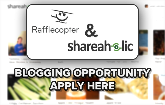 Rafflecopter Shareaholic Channels