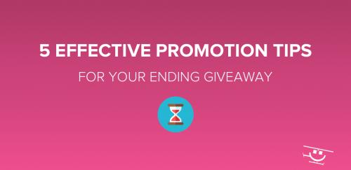 Giveaway Promotion Tips & Tricks