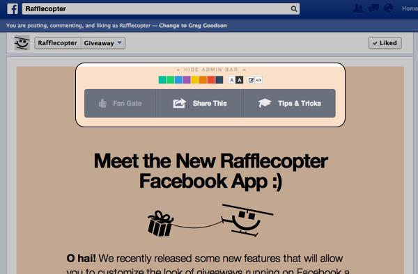 Facebook Giveaway App