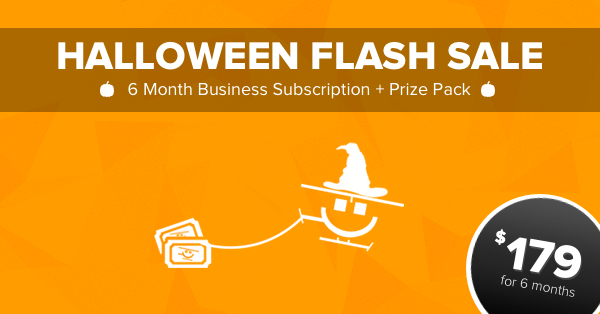 Rafflecopter's Halloween Flash Sale