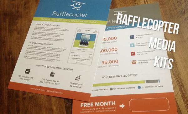 Rafflecopter Media Kits