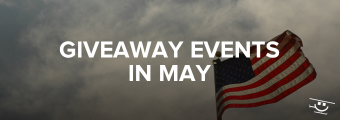 Giveaway Events in May