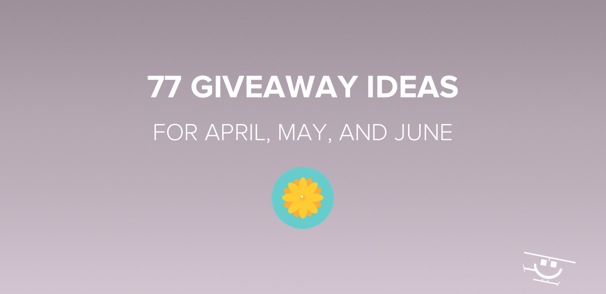 Giveaway Ideas for Spring