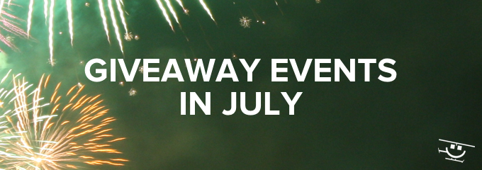Giveaway ideas for July