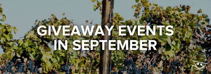 Giveaway ideas for September
