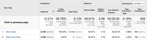 Google Analytics user type